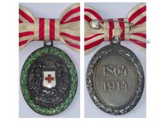 Danish War red cross 1864 | Austria WW1 Silver RED Cross Medal 1864 1914 Military Decoration Boxed ...