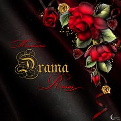 """Drama Roses"" - a designer collection by Barnali Bagghi aka Moonbeam1212."