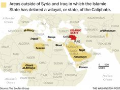 Map: The world according to the Islamic State - The Washington Post