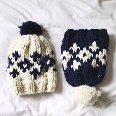 kit de tricot we are knitters pour réaliser un sage beanies / diy knitting