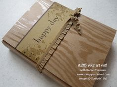 Flip Card Mini Album made with Circle Thinlits Die from Stampin' Up! - Stamp Your Art Out! www.stampyourartout.com