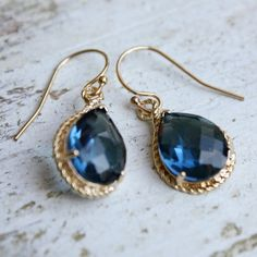 something blue earrings you'll want to wear again? We've rounded up five pairs of something blue . Types Of Earrings, Blue Earrings, Drop Earrings, Something Blue Bridal, Something Old, Wedding Earrings, Wedding Jewelry, Jewelry Box, Jewellery