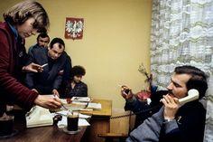 Lech Wałęsa w biurze NSZZ Solidarność, Gdańsk-Wrzeszcz, 1980