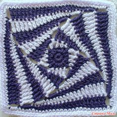 "Interesting square.: Diary of ""All in openwork ... (crochet)"" - Country Mom ""wonky square"""