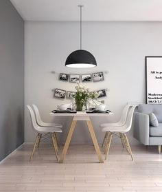 Below are the Scandinavian Dining Room Design Ideas. This post about Scandinavian Dining Room Design Ideas was posted under the … Nordic Living Room, Scandinavian Living, Small Living Rooms, Interior Design Living Room, Small Dining, Scandinavian Design, Scandinavian Interiors, Kitchen Living, Dining Living Room Combo