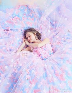 When pink meets blue, the result of this Kiyoko Hata pastel gown is pure romance! Ball Dresses, Ball Gowns, Prom Dresses, Wedding Dresses, Pretty Dresses, Beautiful Dresses, Beautiful Dream, Creative Fashion Photography, Fantasy Gowns