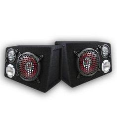 Visonik 200 Watt 3 Way Loaded Sub Enclosure Car Speaker Bass Sub Laptop Speakers, Multimedia Speakers, Solid Bass, Car, Space, Floor Space, Automobile, Autos, Cars