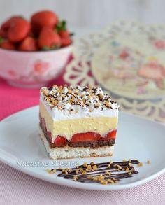 Kolač od jagoda i kokosa sa čokoladnim ganažom Croatian Recipes, Tiramisu, Recipies, Cheesecake, Sweets, Ethnic Recipes, Desserts, Food, Cakes