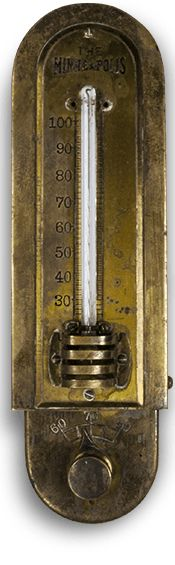 The Minneapolis. The earliest thermostat designed to automatically regulate temperature in 1889. Vintage Honeywell. Thermostat innovation. http://www.lyric.honeywell.com/innovation/