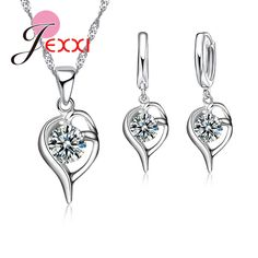 PATICO Fantastic Women's/Girl's Jewelry Sets 925 Sterling Sliver Filled Noble Austrian Crystal Jewelry Sets Wedding Gifts