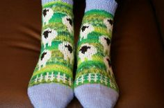 Ravelry: A Flock For Your Feet pattern by revi Knitting Patterns Free, Knit Patterns, Free Knitting, Knitting Socks, Free Pattern, Foot Chart, Foot Socks, Boot Toppers, Knitted Slippers