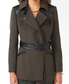 Quilted Shoulder Coat   FOREVER21 - 2030186119