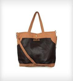 RJ Leather & Canvas Messenger Bag