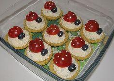 Sýrové košíčky s beruškami :: FOODstyle