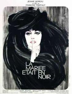LA MARIÉE ÉTAIT EN NOIR - de François TRUFFAUT - Policier de 1967 - avec  Jeanne MOREAU  Claude RICH  Jean-Claude BRIALY  Michel BOUQUET