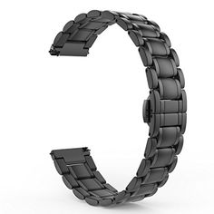 Gear S2 Classic Watch Band MoKo Stainless Steel Metal Replacement Smart Watch Strap Bracelet for Samsung Gear S2 Classic SMR732  SMR735  Moto 360 2nd Mens 42mm 2015 BLACK >>> Want additional info? Click on the affiliate link Amazon.com on image.