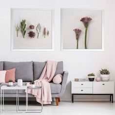 Soft greys and touches of blush pink featuring one of the Ethereal Botanicals print sets 🌸 Art Prints For Home, Wall Art Prints, Bohemian Wall Art, South African Art, Floral Wall Art, Modern Interior Design, Minimalist Interior, Photographic Prints, Floral Flowers