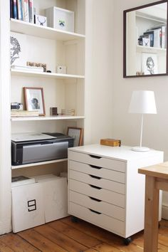 art storage drawers ~ must have.   studio tour | Studio Sweet Studio