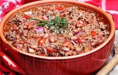 """MexCocina is featuring five different, equally delicious chili recipes. While most of us may not equate """"chili con carne"""" or chili with Mexican food. Slow Cooker Chili, Slow Cooker Recipes, Crockpot Recipes, Cooking Recipes, Best Chili Recipe, Chili Recipes, Turkey Recipes, Healthy Snacks, Healthy Recipes"""