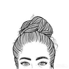 Tan yo . . . . . . . #picsart #drawing #saraherranz #girl #tired #eyes #eyebrows #draw #bun #bunlife #workinggirl #studying #barcelona