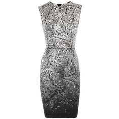 Lanvin Black Silver Dress Cristal...just like..can't afford