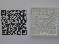 QR Barcode stamp to personalise - clear stamp QR code barcode for url or text message