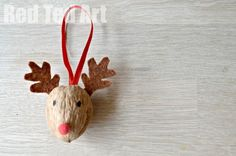 Cute Reindeer Ornament - Walnut Crafts - Red Ted Art's Blog
