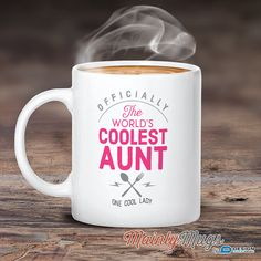 cool aunt aunt mug birthday gift for aunt aunt gift by mainlymugs - Christmas Gifts For Aunts