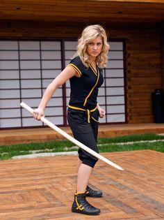 Brittany Pirtle as Emily the Yellow Samurai Ranger http://www.morphinlegacy.com