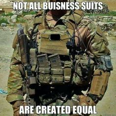 Military business suit