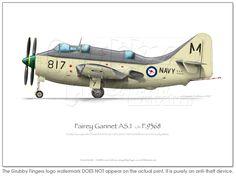 Fairey Gannet AS1 XG826 - Click Image to Close