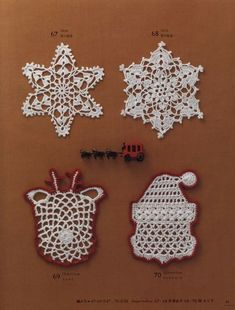 Crochet Christmas Decorations, Crochet Christmas Ornaments, Christmas Crochet Patterns, Christmas Knitting, Ball Ornaments, Crochet Santa, Crochet Snowman, Crochet Home, Easy Crochet