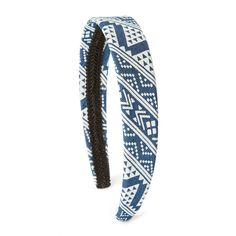 Aztec Print Denim Wide Headband | Claire's