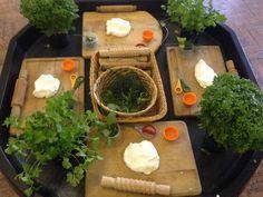 Herbs & cloud dough! Smelt delicious