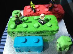 Xavier's birthday Lego cake