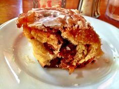 "The ""Bacon Praline Cinnamon Sticky Bun"" from Dante's Kitchen, NOLA - a MUST try! Also order the Brandy Milk Punch or Cold Brew Iced Coffee with vanilla to wash it down. Mmmm perfect!"