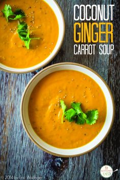 Warm up this fall with this yummy ginger-carrot soup recipe. Totally healthy, delicious and a perfect Thanksgiving recipe or Christmas recipe!