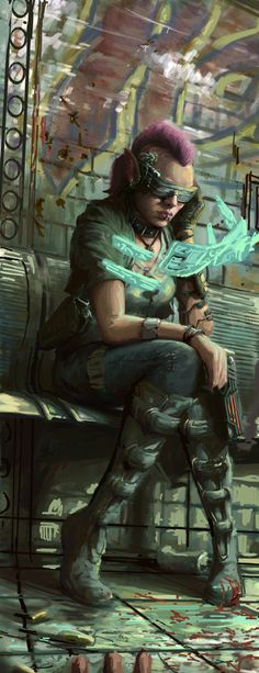 Cyberpunk Sketch by joeshawcross