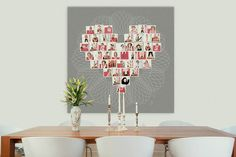 Heart-Shaped Storyboard Collage done with family photos