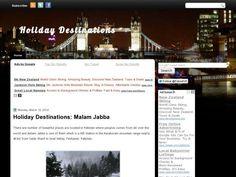 Holiday Destinations - Blog Author: FaHaD ALi - Bloggers