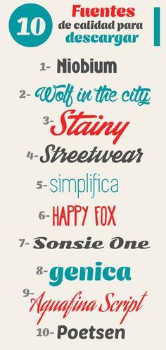 #tipografias libres Fuentes-Marzo-2014 http://jrstudioweb.com/diseno-grafico/diseno-de-logotipos/