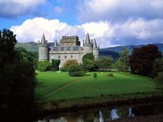 Invevary Castle. Inveraray Castle is a country house near Inveraray in the county of Argyll, in western Scotland, on the shore of Loch Fyne, Scotland's longest sea loch. It has been the seat of the Duke of Argyll, chief of Clan Campbell since the 17th century.