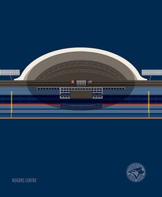 rogers centre  toronto   hometown  London (UK)-based illustrator Marcus Reed has created a collection of minimalist prints featuring all 30 current Major League Baseball stadiums for RareInk. See the rest of the series over here.  Artist – Marcus Reed marcusreed.com