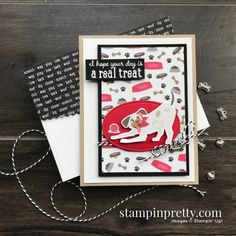 Create this card using the Playful Pets Suite from Stampin\' Up! Card by Mary Fish, Stampin\' Pretty