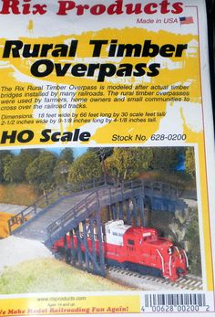 Rural Timber Overpass Rix -0200 HO-Scale Kit