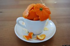 If you notice ants hanging out in your kitchen, just place a few orange peels around problem areas. Although you may think that fruit would attract ants, the little buggers actually hate the acidic scent of orange peels, and they'll move on to a more pleasing environment. When rubbed on skin, orange peels are also an effective mosquito repellant.