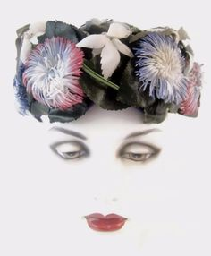 Wearing this is sure to bring a smile to anyone who you meet! Christian Dior Chapeaux Hat Vintage Floral Flower Garden Summer Wedding Cocktail #Pillbox