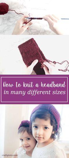 How to Knit a Headba