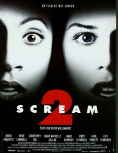 Scream 2 - Wes Craven Still love it! Scream Movie Series, Film Scream, Scream Franchise, Scream 2, Movie Tv, Scream Fest, Best Horror Movies, Horror Show, Horror Movie Posters