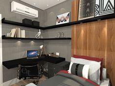Projeto dormitório masculino by EGT Decor